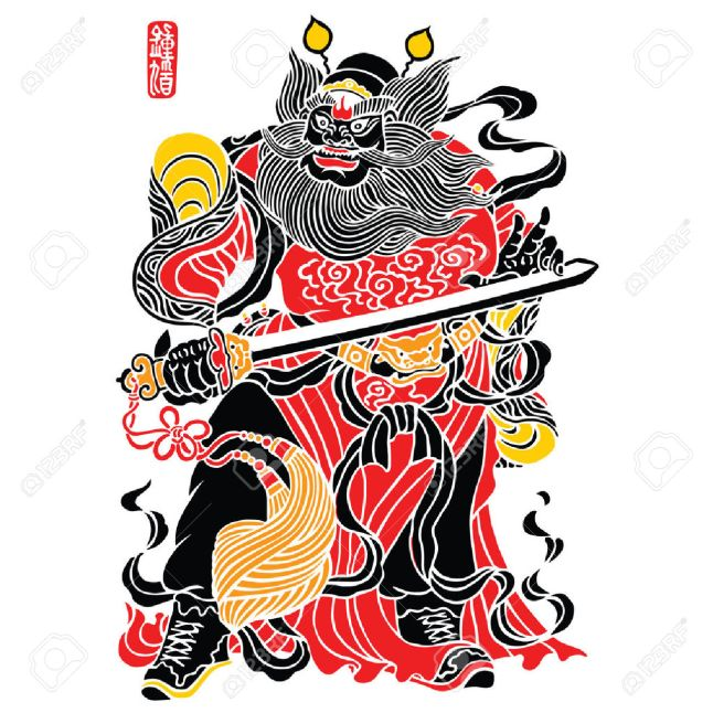 39303192-zhong-kui-is-a-figure-of-chinese-mythology-stock-vector